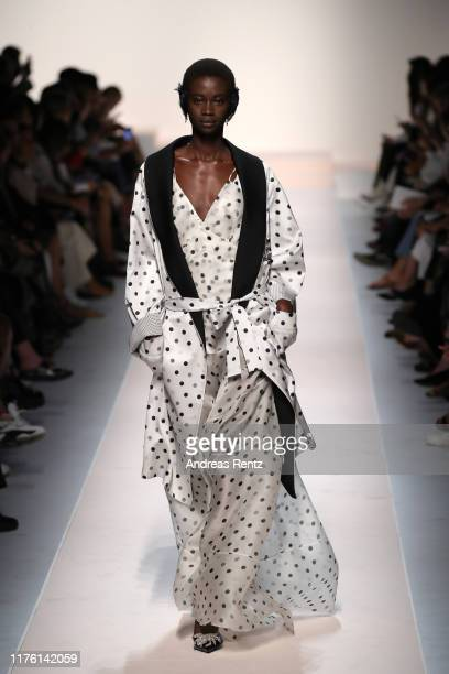 A model walks the runway at the Ermanno Scervino show during the Milan Fashion Week Spring/Summer 2020 on September 21 2019 in Milan Italy