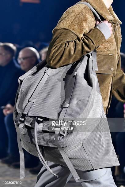 A model walks the runway at the Ermenegildo Zegna Fall/Winter 20192020 fashion show during Milan Menswear Fashion Week Autumn/Winter 2019/20 on...