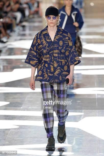 A model walks the runway at the Ermenegildo Zegna show during Milan Men's Fashion Week Spring/Summer 2019 on June 15 2018 in Milan Italy