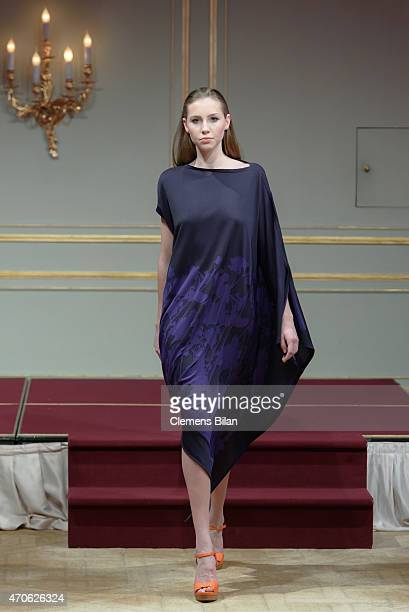 A model walks the runway at the Escada At Global Female Leader Summit on April 21 2015 in Berlin Germany