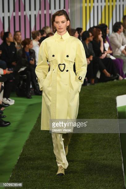 A model walks the runway at the Escada show during New York Fashion Week on September 9 2018 in New York City