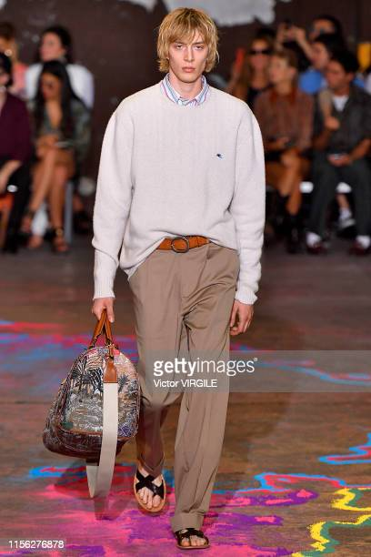 A model walks the runway at the Etro fashion show during Milan Men's Fashion Week Spring/Summer 2020 on June 16 2019 in Milan Italy