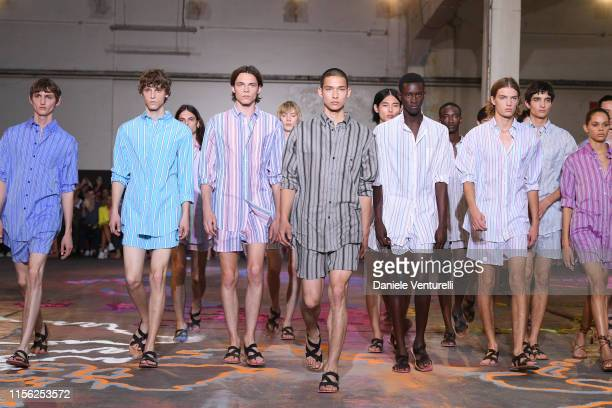 A model walks the runway at the Etro fashion show during the Milan Men's Fashion Week Spring/Summer 2020 on June 16 2019 in Milan Italy