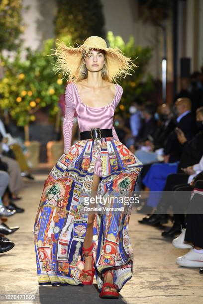 Model walks the runway at the Etro fashion show during the Milan Women's Fashion Week on September 24, 2020 in Milan, Italy.