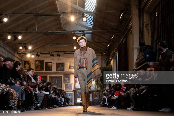 A model walks the runway at the Etro fashion show on January 12 2020 in Milan Italy