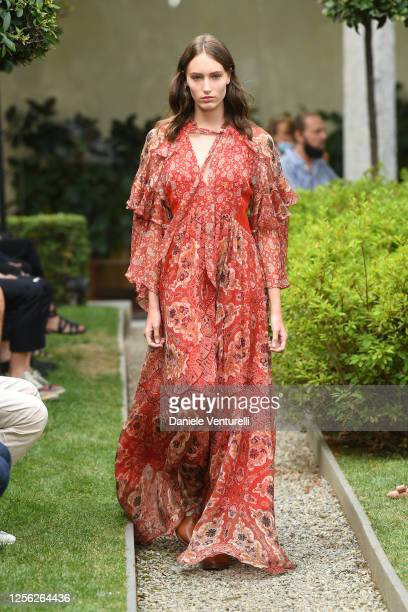 A model walks the runway at the Etro fashion show on July 15 2020 in Milan Italy