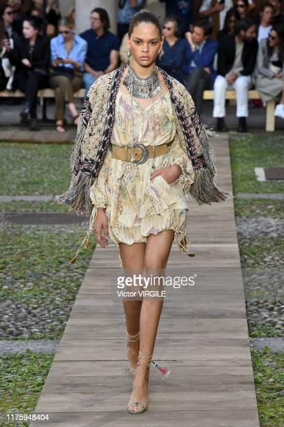 Model walks the runway at the Etro Ready to Wear fashion show during the Milan Fashion Week Spring/Summer 2020 on September 20, 2019 in Milan, Italy.