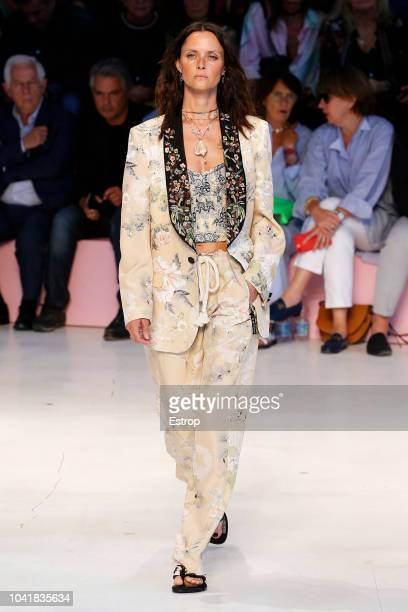 A model walks the runway at the Etro show during Milan Fashion Week Spring/Summer 2019 on September 21 2018 in Milan Italy