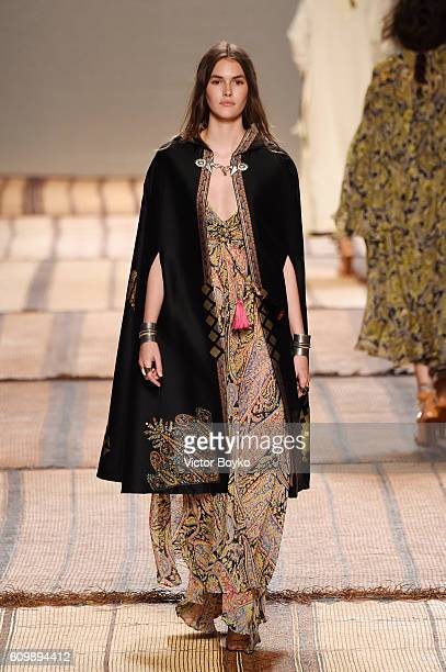 A model walks the runway at the Etro show during Milan Fashion Week Spring/Summer 2017 on September 23 2016 in Milan Italy