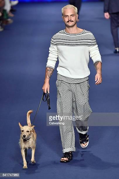 Model walks the runway at the Etro Spring Summer 2017 fashion show during Milan Menswear Fashion Week on June 20, 2016 in Milan, Italy.
