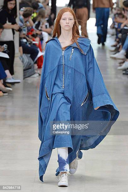 A model walks the runway at the Etudes Spring Summer 2017 fashion show during Paris Menswear Fashion Week on June 25 2016 in Paris France