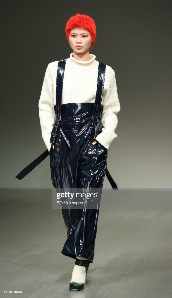 A model walks the runway at the Eudon Choi Show during... : Foto di attualità