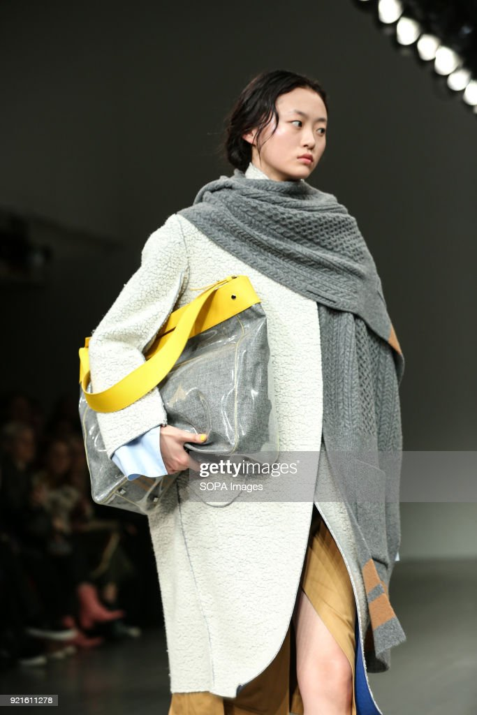 A model walks the runway at the Eudon Choi Show during...