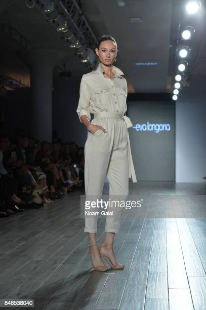 A model walks the runway at the Eva Longoria Collection fashion show during New York Fashion Week Style360 at Metropolitan West on September 13 2017...