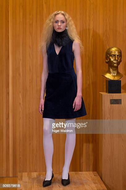 A model walks the runway at the Fall Winter Spring Summer show during the Fashion Week Oslo Autumn/Winter 2016/2017 at the F5 Showcase Oslo on...