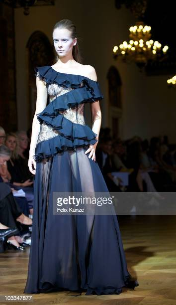 A model walks the runway at the Fashion Week Opening Show by YDE at 'Copenhagen Fashion Week Spring / Summer 2011' on August 11 2010 in Copenhagen...