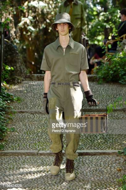 A model walks the runway at the Fendi fashion show during the Milan Men's Fashion Week Spring/Summer 2020 on June 17 2019 in Milan Italy