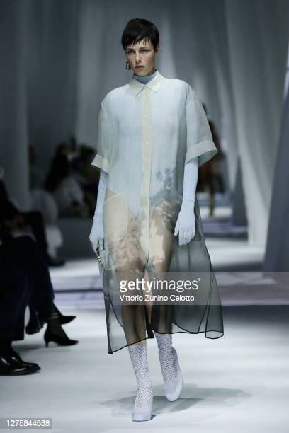 A model walks the runway at the Fendi fashion show during the Milan Women's Fashion Week on September 23 2020 in Milan Italy