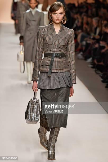 089719e6e2c6 A model walks the runway at the Fendi Ready to Wear Fall Winter 20182019  fashion