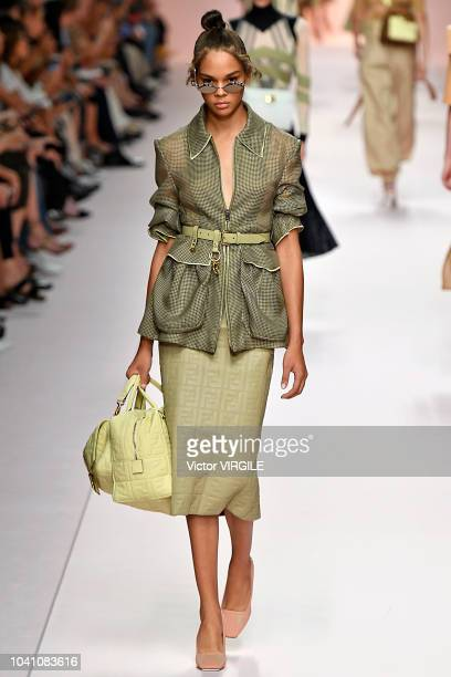 A model walks the runway at the Fendi Ready to Wear fashion show during Milan Fashion Week Spring/Summer 2019 on September 20 2018 in Milan Italy