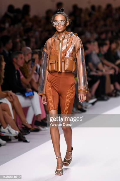 A model walks the runway at the Fendi show during Milan Fashion Week Spring/Summer 2019 on September 20 2018 in Milan Italy