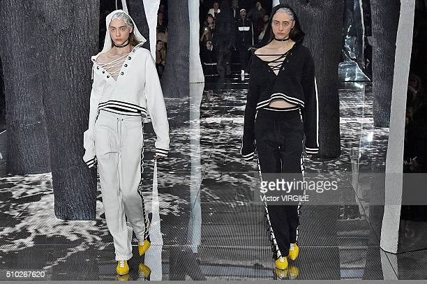 A model walks the runway at the FENTY PUMA by Rihanna AW16 Collection during Fall 2016 New York Fashion Week on February 12 2016 in New York City