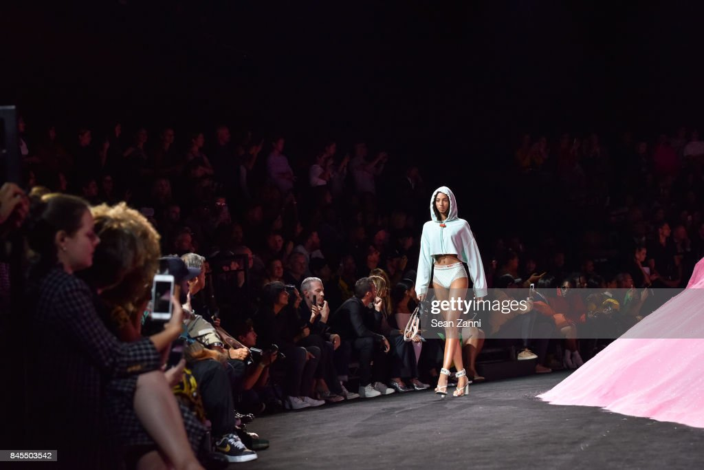 A Model walks the runway at the Fenty Puma By Rihanna fashion show during New York fashion week at Park Avenue Armory on September 10, 2017 in New York City.