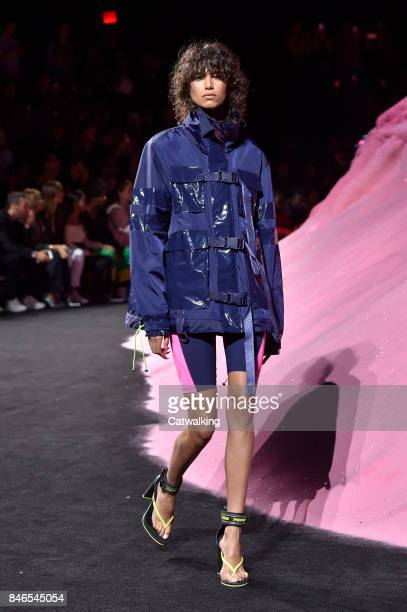 A model walks the runway at the Fenty Puma by Rihanna Spring Summer 2018 fashion show during New York Fashion Week on September 10 2017 in New York...