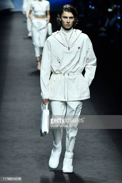 Model walks the runway at the Fila Ready to Wear fashion show during the Milan Fashion Week Spring/Summer 2020 on September 22, 2019 in Milan, Italy.