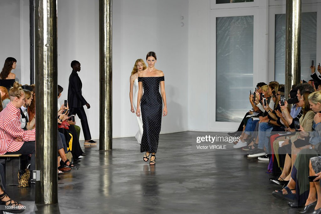 A model walks the runway at the Gabriela Hearst Spring/Summer 2019 fashion show during New York Fashion Week on September 11, 2018 in New York City.