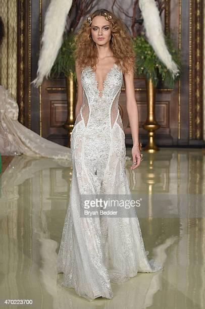 A Model Walks The Runway At Galia Lahav Bridal Show Spring Summer 2016