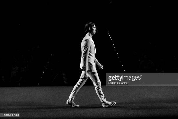 A model walks the runway at the Garcia Madrid show during the MercedesBenz Fashion Week Madrid Spring/Summer 2019 on July 9 2018 in Madrid Spain