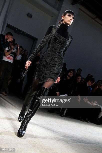 A model walks the runway at the Gareth Pugh Ready to Wear show during Paris Womenswear Fashion Week Fall/Winter 2011 at Palais De Tokyo on March 3...