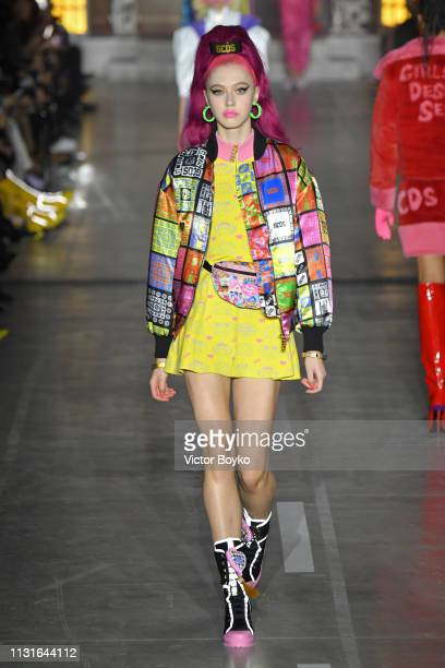 A model walks the runway at the GCDS show at Milan Fashion Week Autumn/Winter 2019/20 on February 23 2019 in Milan Italy
