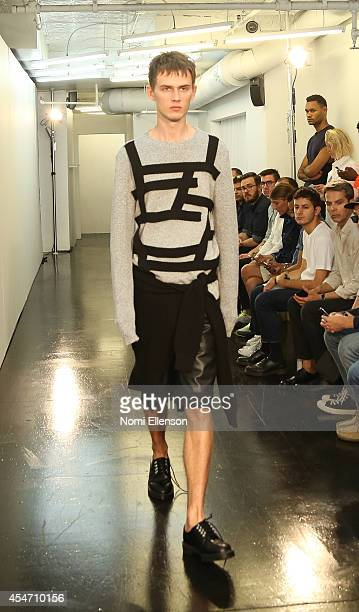A model walks the runway at the General Idea presentation during MercedesBenz Fashion Week Spring 2015 at Center 548 on September 5 2014 in New York...