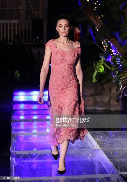 Model walks the runway at the Gifting Your Spectrum gala benefiting Autism Speaks on February 24 2018 in Hollywood California