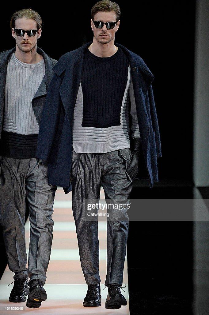 d4d95b566f7 Giorgio Armani - Mens Fall 2015 Runway - Milan Menswear Fashion Week   News  Photo