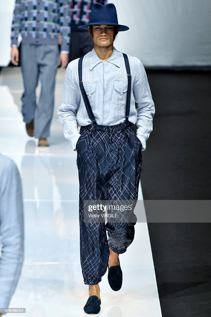 Giorgio Armani - Runway - Milan Men's Fashion Week Spring/Summer 2019 : ニュース写真