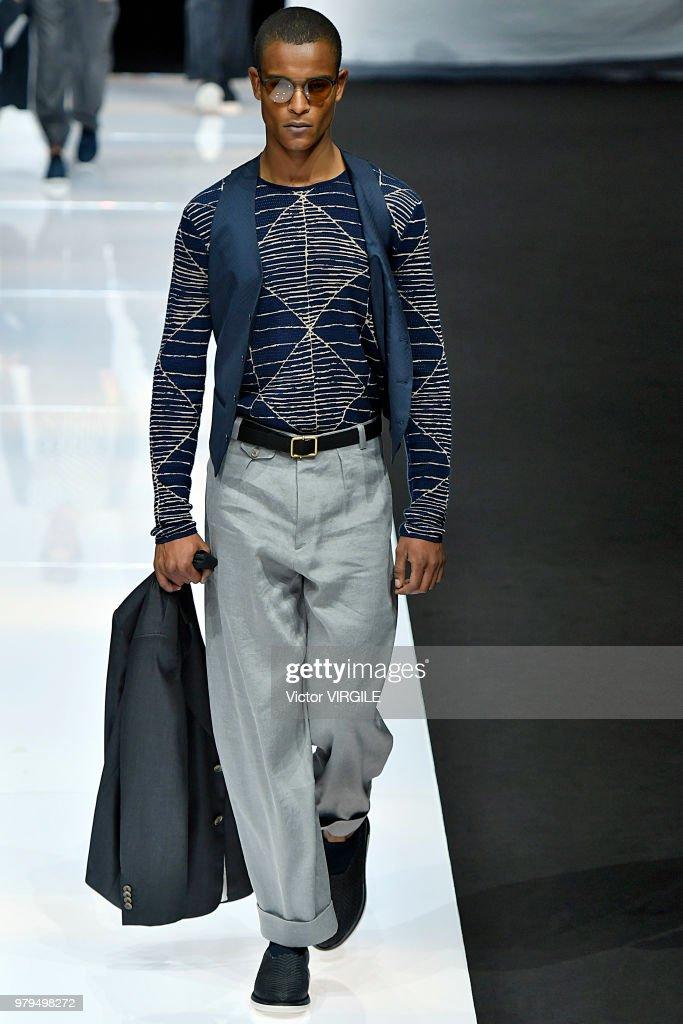 Giorgio Armani - Runway - Milan Men's Fashion Week Spring/Summer 2019 : ニュース写真