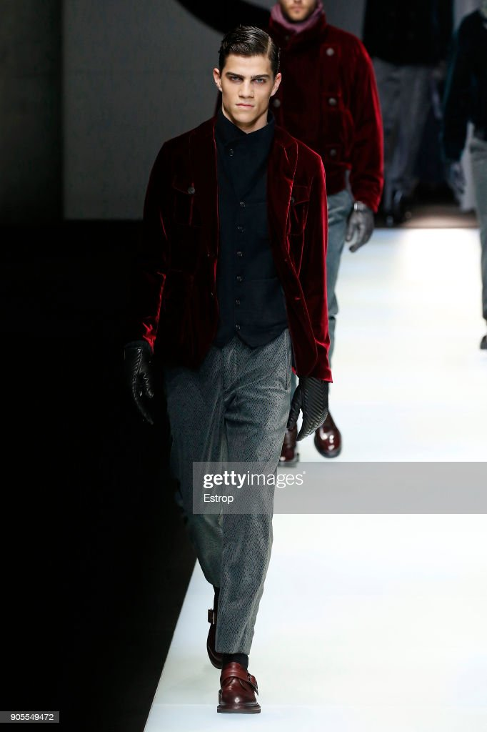 Giorgio Armani - Runway - Milan Men's Fashion Week Fall/Winter 2018/19 : ニュース写真
