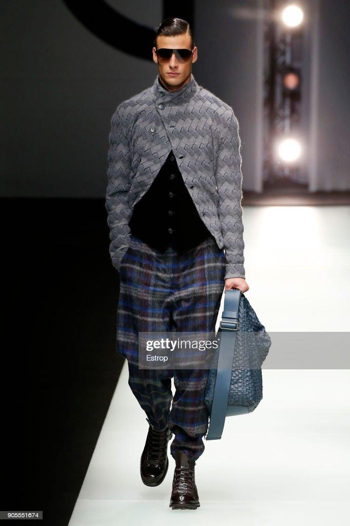 Giorgio Armani - Runway - Milan Men's Fashion Week Fall/Winter 2018/19 : ニュース写真