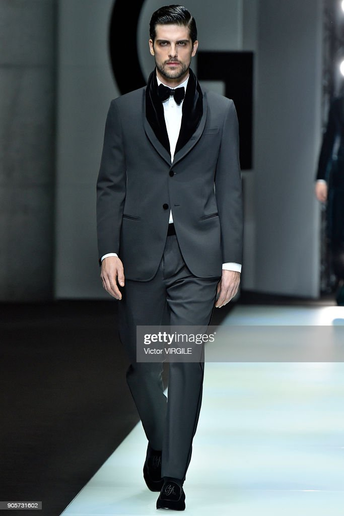 Giorgio Armani - Runway - Milan Men's Fashion Week Fall/Winter 2018/19 : Nachrichtenfoto