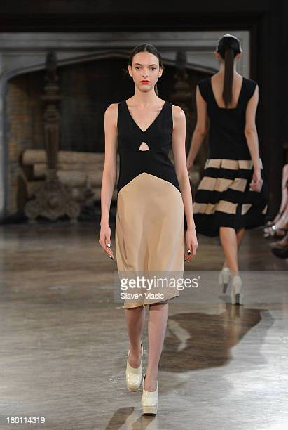 A model walks the runway at the Giulietta fashion show MercedesBenz Fashion Week Spring 2014 at The Highline Hotel on September 8 2013 in New York...