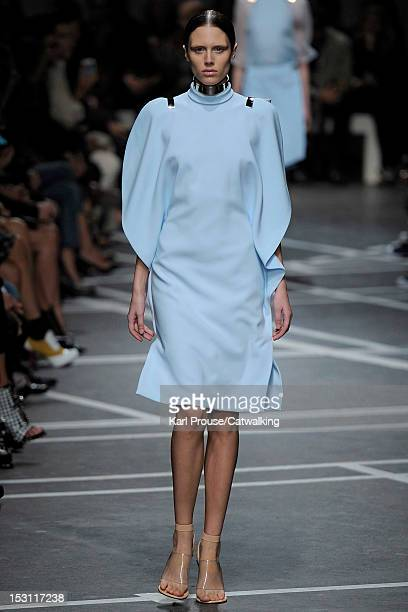 Model walks the runway at the Givenchy Spring Summer 2013 fashion show during Paris Fashion Week on September 30, 2012 in Paris, France.