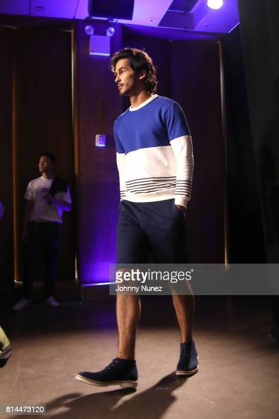 A model walks the runway at the Grungy Gentleman NYFW Men's July 2017 at Dream Downtown on July 13 2017 in New York City