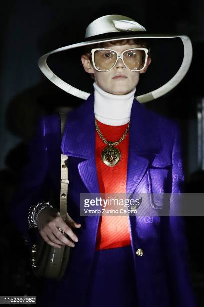 A model walks the runway at the Gucci Cruise 2020 on at Musei Capitolini on May 28 2019 in Rome Italy