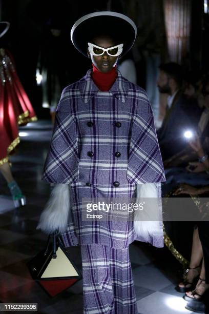A model walks the runway at the Gucci Cruise 2020 show at the Musei Capitolini on May 28th 2019 in Rome Italy