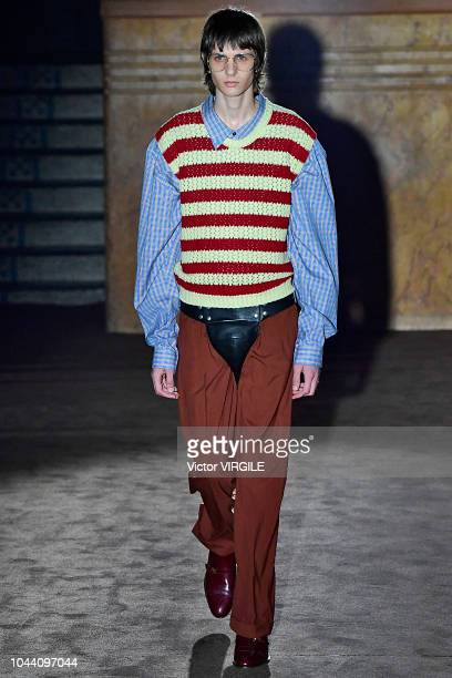 d3e0c92fc4a A model walks the runway at the Gucci Ready to Wear fashion show during  Paris Fashion