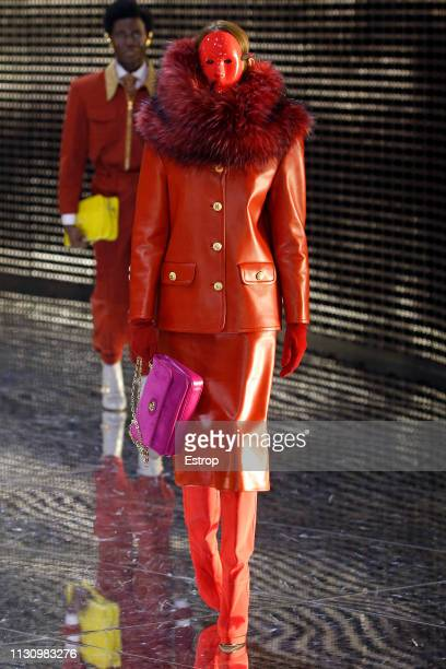 A model walks the runway at the Gucci show at Milan Fashion Week Autumn/Winter 2019/20 on February 20 2019 in Milan Italy