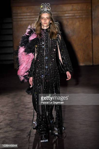 1ad3b756bc1 A model walks the runway at the Gucci show during Paris Fashion Week Spring  Summer